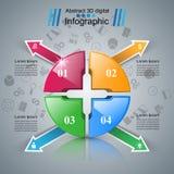 Logo de puzzle Affaires Infographics Image stock