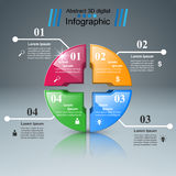 Logo de puzzle Affaires Infographics Photographie stock libre de droits