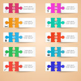 Logo de puzzle Affaires Infographics Images libres de droits