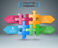 Logo de puzzle Affaires Infographics Photos stock