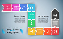 Logo de puzzle Affaires Infographics Photographie stock