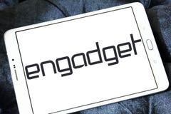 Logo de réseau de blog de technologie d'Engadget Image stock