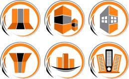 Logo de ramassage de construction illustration stock