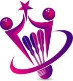 Logo de raquette de badminton Photographie stock