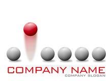Logo de Red Bouncing Ball Company Images libres de droits