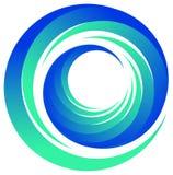 Logo de remous Photographie stock