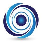 Logo de remous sur la terre arrière blanche illustration libre de droits