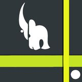 Logo de rhinocéros illustration de vecteur