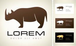 Logo de rhinocéros Photos stock