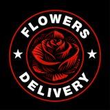 Logo de Rose sur le fond foncé illustration libre de droits