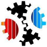 Logo de roue dentée illustration stock
