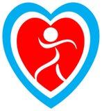 Logo de sécurité de coeur Photo stock