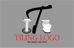 Logo de salle de bains de lettre de T Photos stock