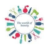 Logo de salon de coiffure Photos libres de droits