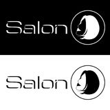 Logo de salon ou de station thermale de vecteur Photographie stock libre de droits