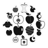 Logo de scénographie d'icônes d'Apple, style simple Photographie stock libre de droits