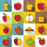 Logo de scénographie d'icônes d'Apple, style plat illustration libre de droits
