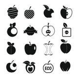 Logo de scénographie d'icônes d'Apple, style simple Photographie stock