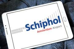 Logo de Schiphol d'aéroport d'Amsterdam Images stock