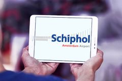 Logo de Schiphol d'aéroport d'Amsterdam Image stock