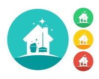 Logo de service de nettoyage de Chambre Photos libres de droits