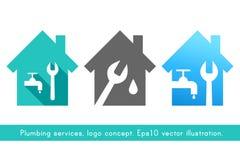 Logo de service de plombier et de tuyauterie Photo libre de droits