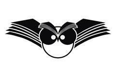 Logo de silhouette de hibou Photographie stock libre de droits