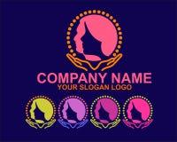 Logo de silhouette de femme et d'homme photographie stock
