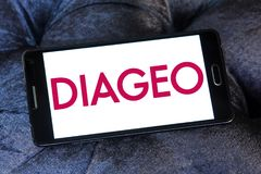 Logo de société de boissons alcoolisées de Diageo Photographie stock libre de droits
