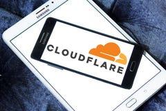 Logo de société de Cloudflare Photographie stock