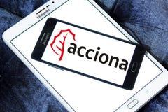 Logo de société d'Acciona Photographie stock