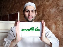 Logo de société d'Air Products & Chemicals photo libre de droits