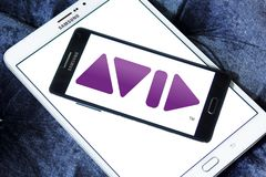 Logo de société d'Avid Technology Images libres de droits