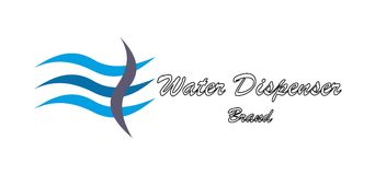 Logo de société d'eau Photo libre de droits
