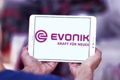 Logo de société d'industries d'Evonik Photo libre de droits