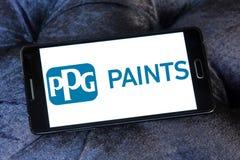 Logo de société d'industries de PPG Photographie stock