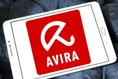 Logo de société d'opérations d'Avira Image stock