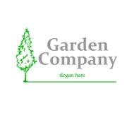 Logo de société de jardin illustration de vecteur