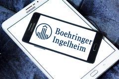 Logo de société pharmaceutique de Boehringer Ingelheim Photographie stock libre de droits
