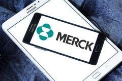 Logo de société pharmaceutique de Merck Image stock