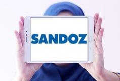 Logo de société pharmaceutique de Sandoz Images stock