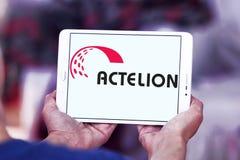 Logo de société de pharmaceutiques d'Actelion photo stock