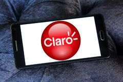 Logo de société de télécom de Claro Americas Image stock