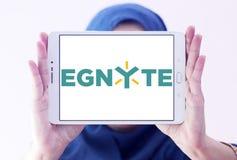 Logo de société de technologie d'Egnyte images libres de droits