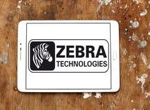 Logo de société de technologies de zèbre Photographie stock