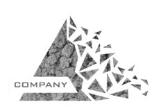 Logo de société de triangle de dispersion illustration stock
