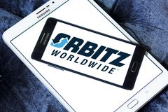 Logo de société de voyage d'Orbitz Photos stock