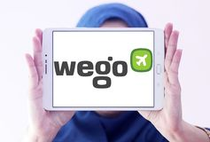 Logo de société de voyage de Wego Image libre de droits