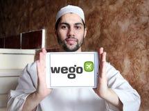 Logo de société de voyage de Wego Images stock