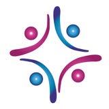Logo de social de travail d'équipe Photos stock